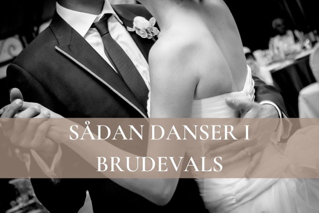 Sådan danser i brudevals banner, dansende brudepar