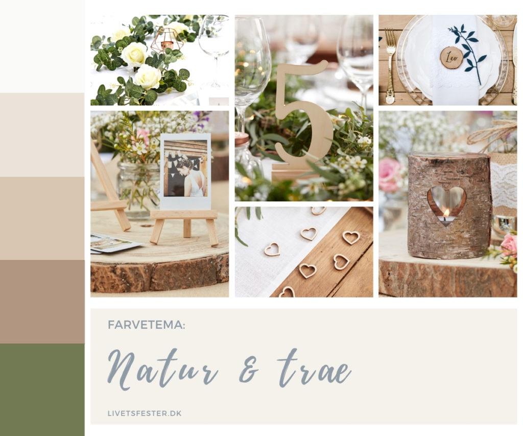 Mood board til bryllup, bordpynt i rosegold rosaguld fra Luxit